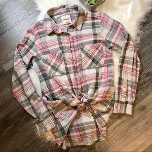 Mudd Plaid Flannel Button Down Shirt